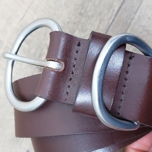 Temporary genuine leather belt